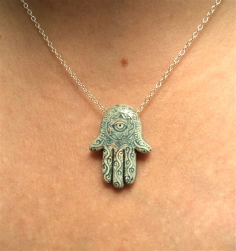 gift hamsa necklace evil eye necklace of fatima necklace