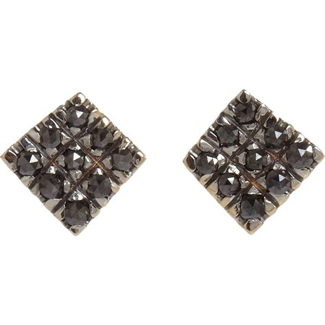 Square Earrings the gallery for gt black square earrings