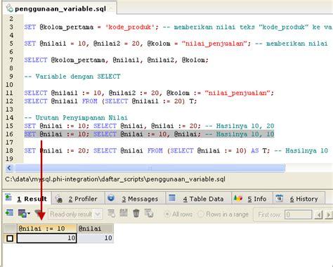 contoh membuat trigger di mysql penggunaan variable di mysql copas ilmu
