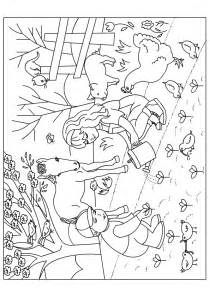 coloriage le jardin au printemps hugolescargot