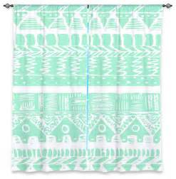 Aztec Print Curtains Dianoche Lined Window Curtains By Organic Saturation Boho Mint Aztec Contemporary Curtains