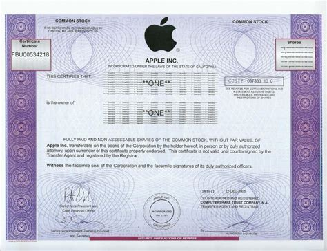 certificate templates for mac apple stock certificate