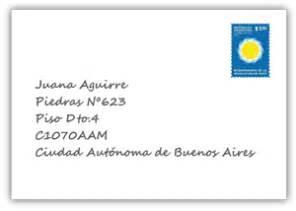 como poner la direccion en un sobre consulta de cpa correo argentino