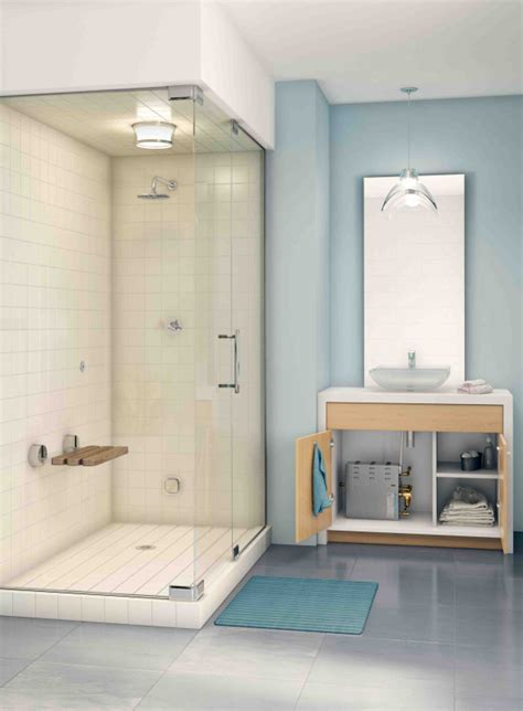 yes you can a steam shower in a small bathroom