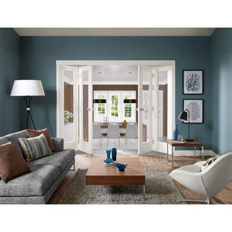 Folding Room Divider Doors Xl Joinery Freefold White Primed Room Divider Shaker Panelled Folding Door System