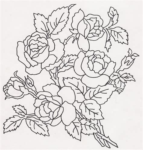 rose bouquet coloring page rose bouquet jenine flickr