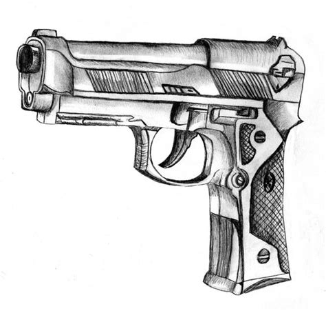 cool drawings of guns gun sketch by cchikaa on
