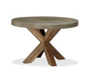Abbott concrete top round fixed dining table amp palmetto armchair set