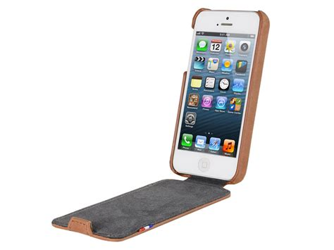 Kerropi Iphone 5 5s Custom Flip Cover decoded vintage flip leren hoesje voor iphone 5 5s