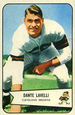 dante lavelli 1954 bowman dante lavelli 111 football card value price guide