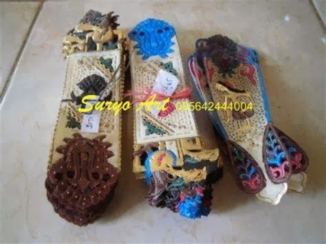 Miniatur Wayang Kulit Punokawan Ukuran S Bagong Semar Gareng Petruk jual wayang kulit java handicrafts suryoart souvenir