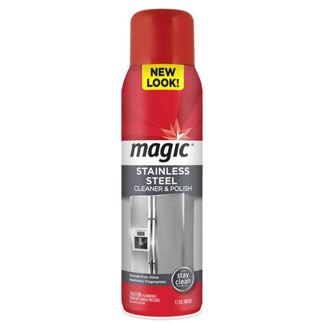 magic stainless steel cleaner magic 17 oz stainless steel cleaner 3062 the home depot