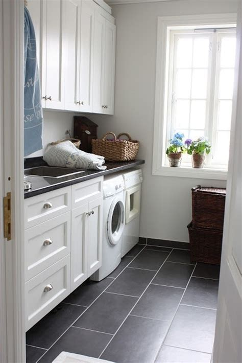 White laundry room design ideas