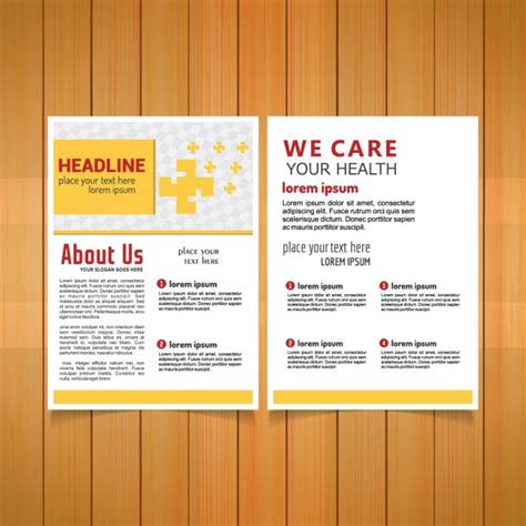 free templates for medical brochures medical brochure template vector free download