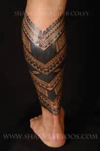 shane tattoos samoan calf tattoo
