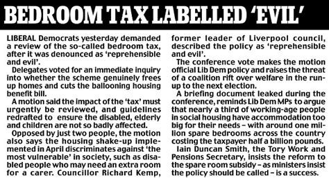 Bedroom Tax Seekers Allowance Vince Cable Attacks Marriage Tax Breaks Because It Could