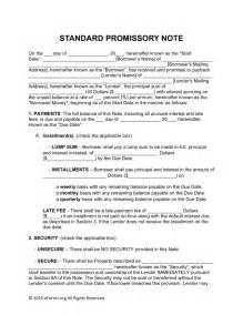 promissory note word template free promissory note templates word pdf eforms
