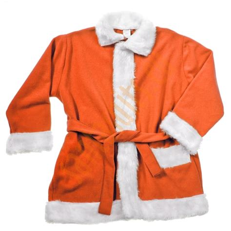 orange santa suit jacket trousers and hat santa suits