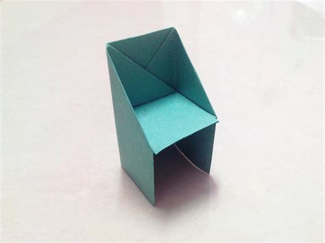 How To Make Paper Table - how to make an origami chair step by step
