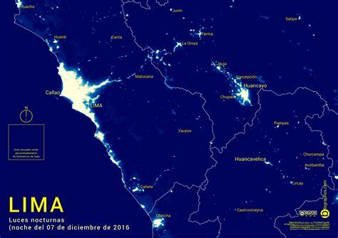 imagenes satelitales peru imagen satelital nocturna de lima y alrededores toma