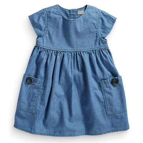buttons pockets wardrobe essential denim dress with pockets buttons
