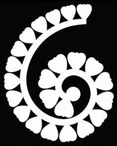 rolled paper flower pattern rolled flower svg free svg files free pinterest