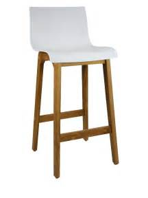 timber bar stools ryan bar stool timber natural frame white plastic seat