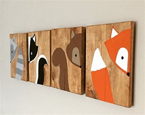 Woodland Nursery Decor by 10x14 Set Of 3 Woodland Animal Nursery Signs Nursery Decor