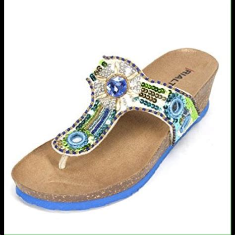 rialto beaded sandals 57 rialto shoes rialto beaded bling wedge sandal 1