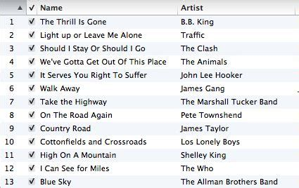 road song list story a day may 4 stay go road playlist story cogdogblog