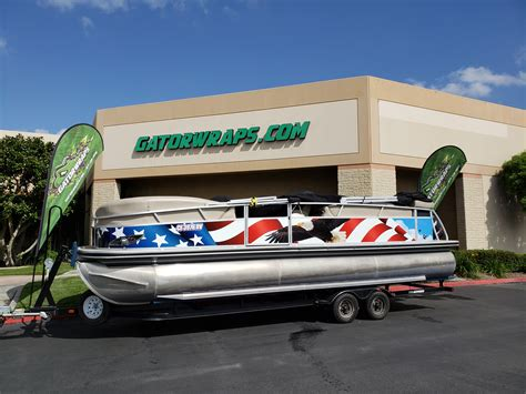 boat wraps pontoon pontoon boat custom wrap gator wraps
