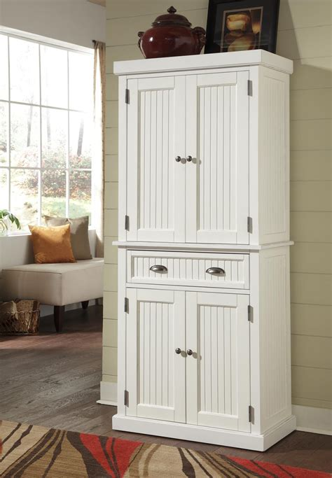 Pantry White by Home Styles 5022 69 Nantucket Pantry Distressed White