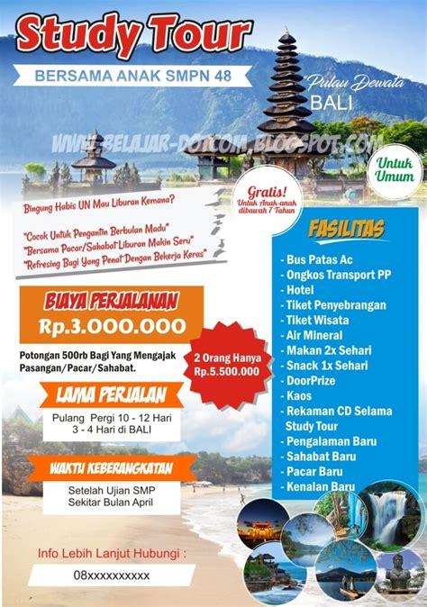 desain brosur tour contoh brosur paket wisata dan study tour ke bali download
