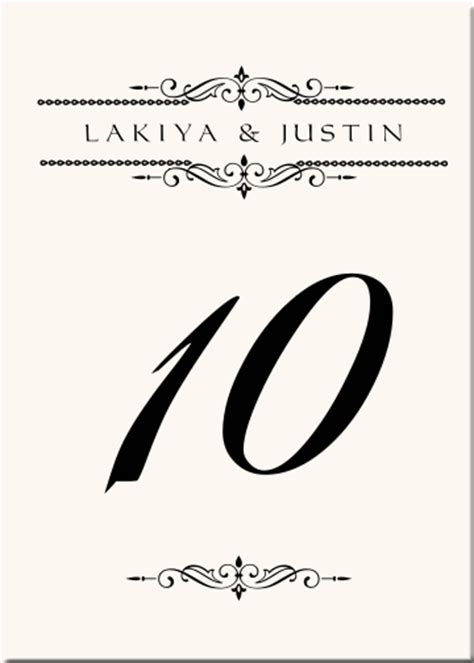 table number cards template word free wedding table number templates for word table