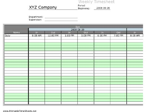 printable time sheets with lunch weekly multiple employee timesheet 3 work periods