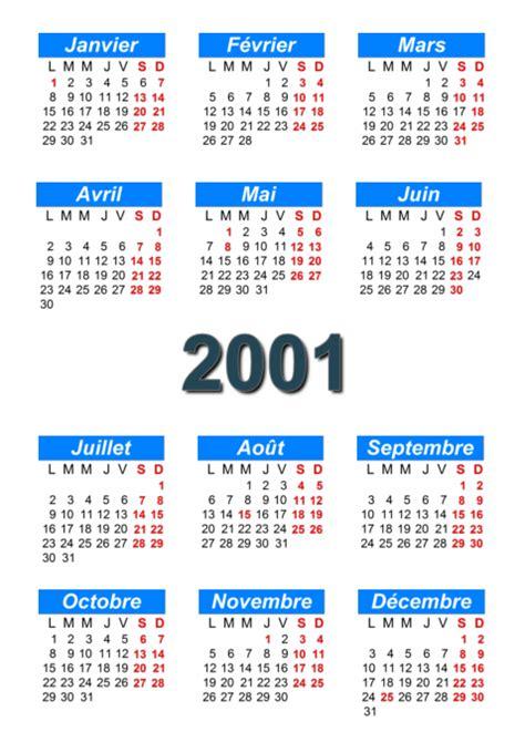 Calendrier Novembre 2001 Calendrier 2001 224 Imprimer Et 224 T 233 L 233 Charger En Pdf Abc
