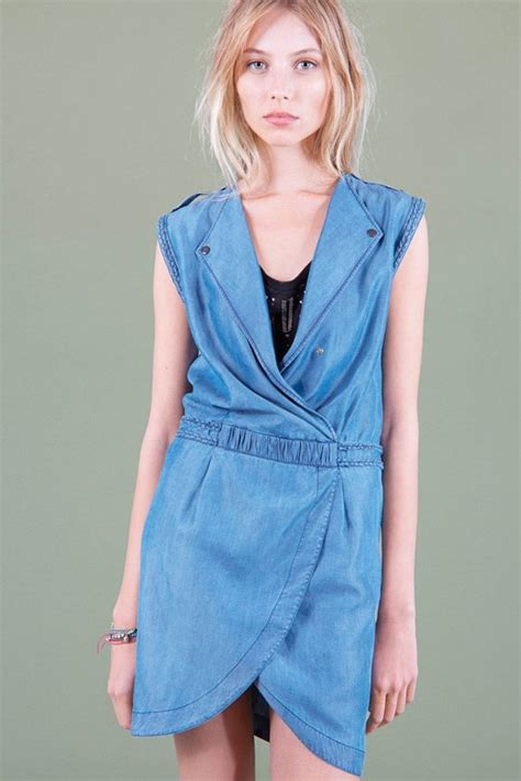 42307 Blue Denim Blouse Blouse Denim Bi Kode Vc7726 2 collection pe14 comptoir des cotonniers robe reveur