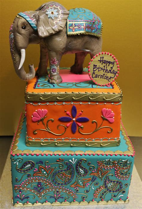 indian design happy birthday indian culture cake alliance bakery flickr