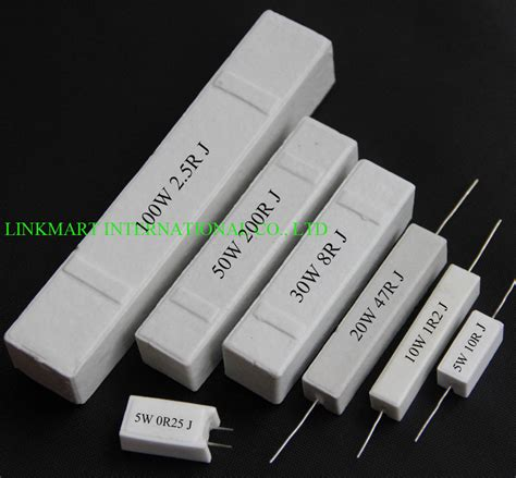 10w 5 ohm resistor 10w 0 75 ohm cement resistor 5 20pcs customizable resistance value you want in resistors