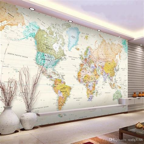 Map Of The World Wall Mural 3d photo wallpaper custom mural study room fresh color hd