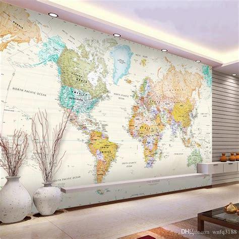 World Map Wall Mural 3d photo wallpaper custom mural study room fresh color hd