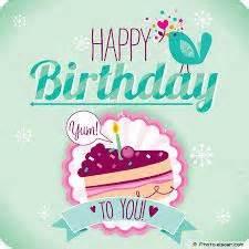 happy birthday greeting cake graphic on wall imagefully