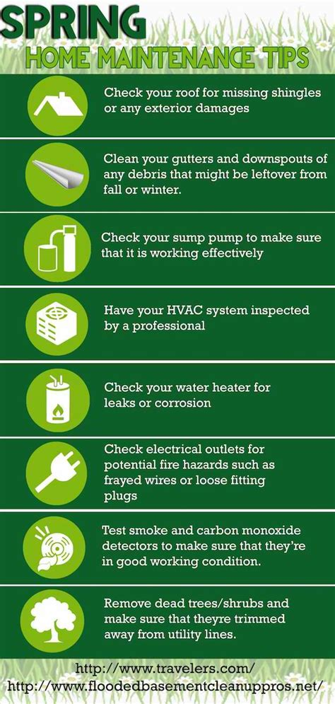 spring home tips spring home maintenance tips infographic diy projects