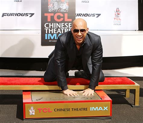 vin diesel honours paul walker at hand printing ceremony