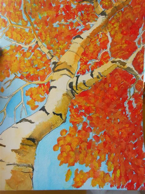painted projects autumn landscape art project ideas artmuse67