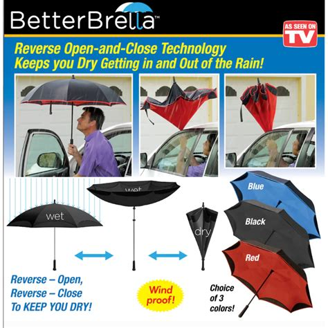 As Seen on TV Better Brella Deluxe Reverse Open and Close