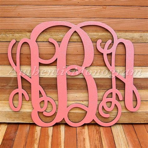 wooden monogram letters custom three letter vine wooden monogramauthenticmonogram 1725