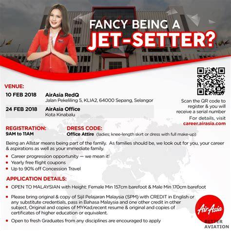 airasia recruitment airasia cabin crew walk in interview february 2018