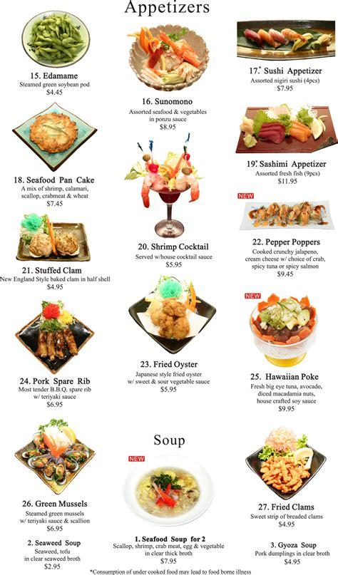 japanese appetizers menu ichiban steakhouse allentown pa