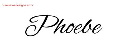 phoebe tattoo designs phoebe archives free name designs